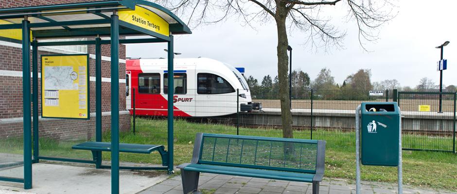 Aansluiting op de treinen in Terborg
